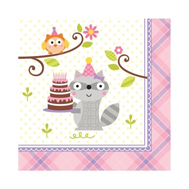Happi Woodland Girl Beverage Napkins (16)