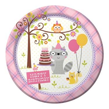 Happi Woodland Girl Dinner Plates (8)