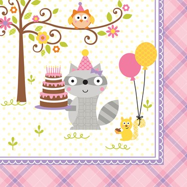 Happi Woodland Girl Lunch Napkins (16)
