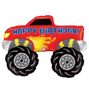 Happy Birthday Monster Truck Jumbo Foil Balloon