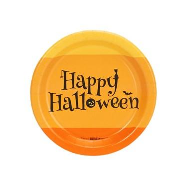 Happy Halloween Candy Corn Dessert Plate (8)