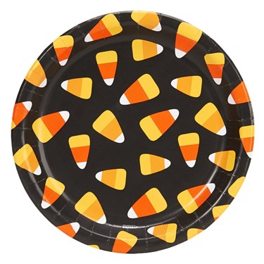 Happy Halloween Candy Corn Dinner Plate (8)