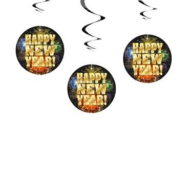Happy New Year Hanging Swirls (3)
