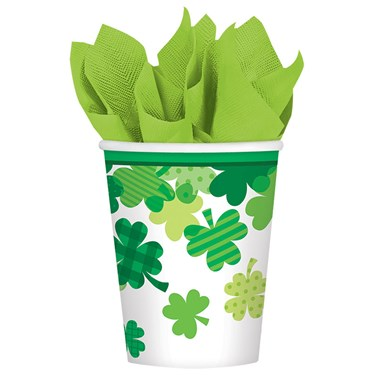 Happy St. Patrick's Day Bloom 9oz Paper Cup (18)
