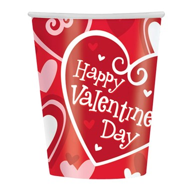 Happy Valentines Day 9oz Paper Cups (8)