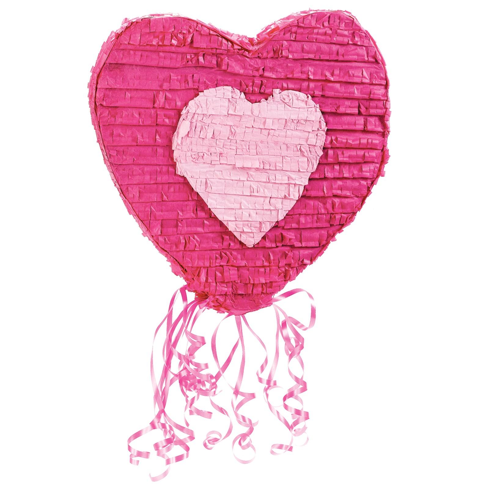 Heart 20 Pull String Pinata