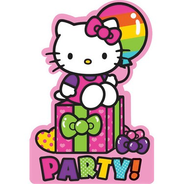Hello Kitty Rainbow Invitations (8)