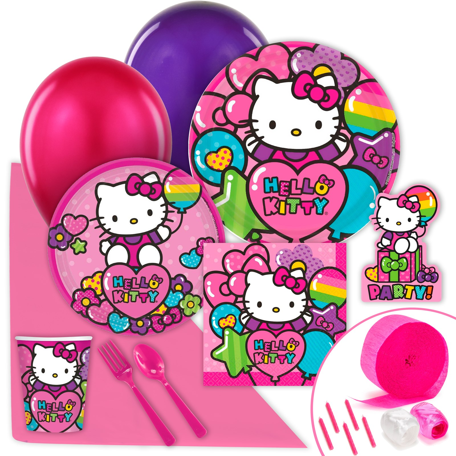 hello kitty rainbow value party pack. Black Bedroom Furniture Sets. Home Design Ideas