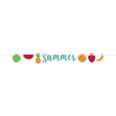 "Hello Summer Fruit Ribbon ""Summer"" Banner"
