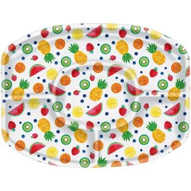Hello Summer Sectional Plastic Platter