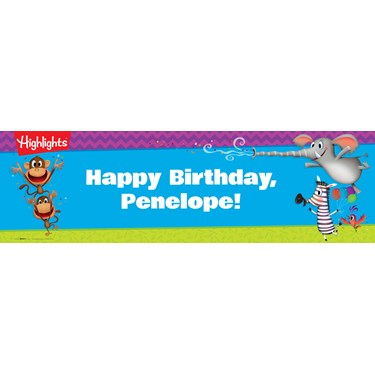 Highlights Personalized Text Banner