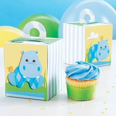Hippo Blue Cupcake Boxes