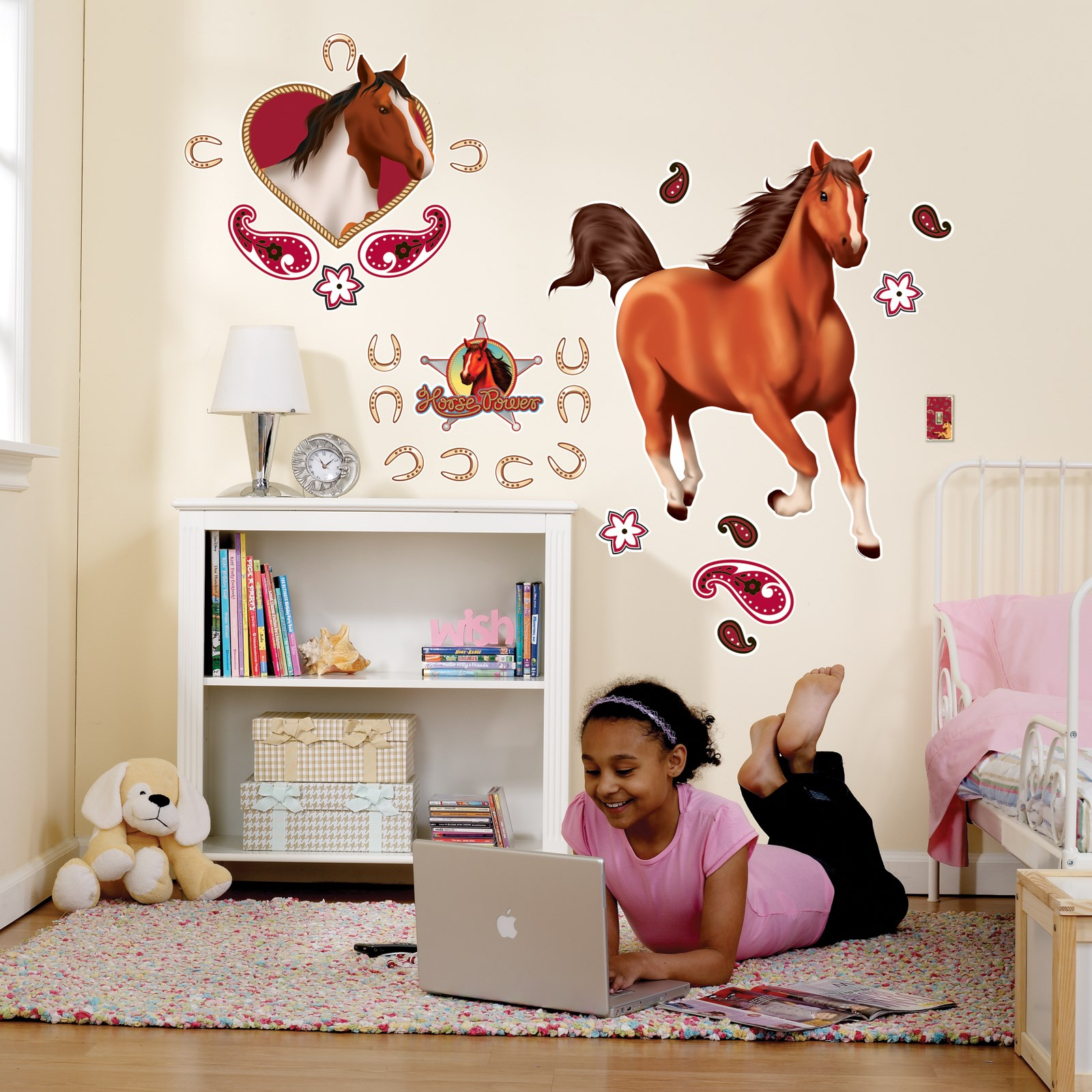 Horse power giant wall decals birthdayexpresscom for Horse wall decals