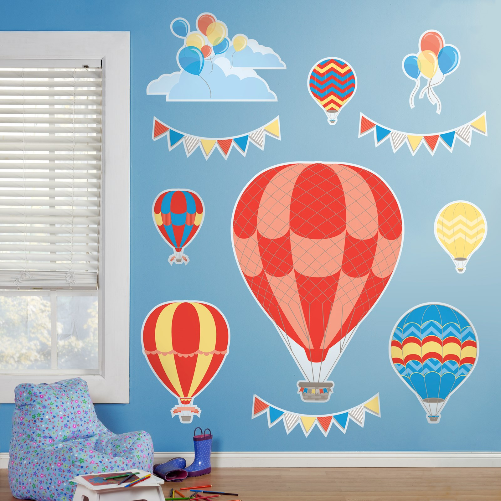 Default Image - Hot Air Balloon Party Giant Wall Decals