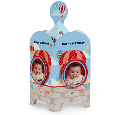 Hot Air Balloon Party Personalized Centerpiece