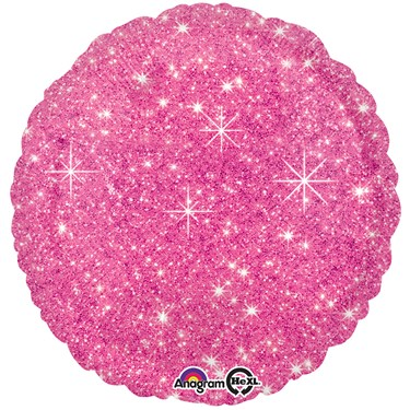 "Hot Pink Sparkle 17"" Balloon"