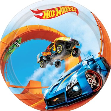 "Hot Wheels Wild Racer 7"" Cake Plate (8 Count)"