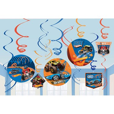 Hot Wheels Wild Racer Foil Swirl Decoration