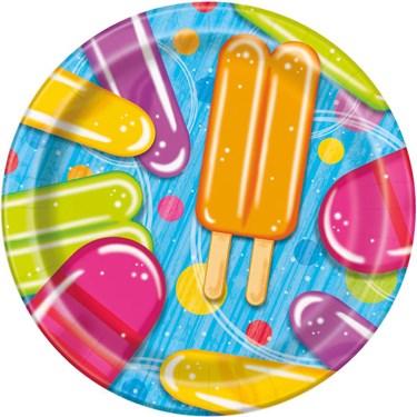 "Ice Cream 7"" Cake Plates (8 Count)"