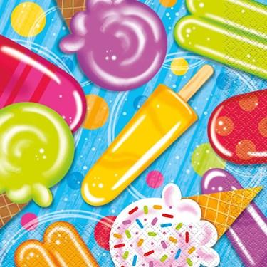 Ice Cream Lunch Napkins (16 Count)