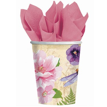 In The Garden 9 oz. Paper Cups (8)