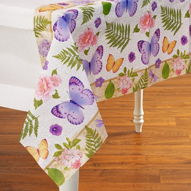 In The Garden Paper Tablecover