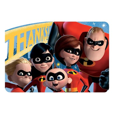 INCREDIBLES 2 Post Card Thank You
