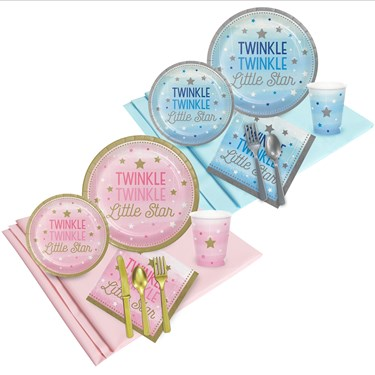 inkle Twinkle Little Star Pink and Blue Party Pack (16)