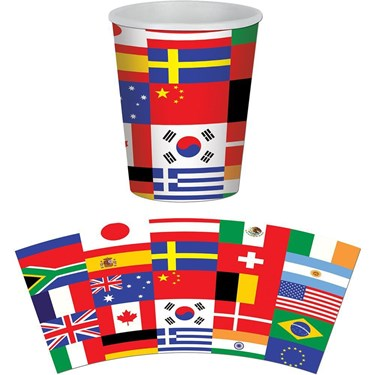 International Party 9oz Hot/cold Cups (8)