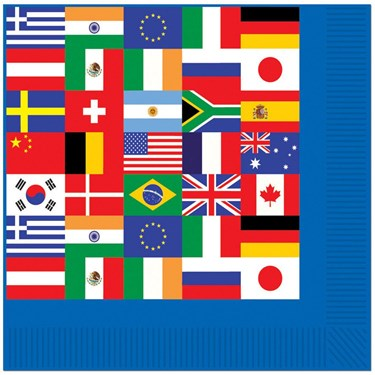 International Party Luncheon Napkins (16)