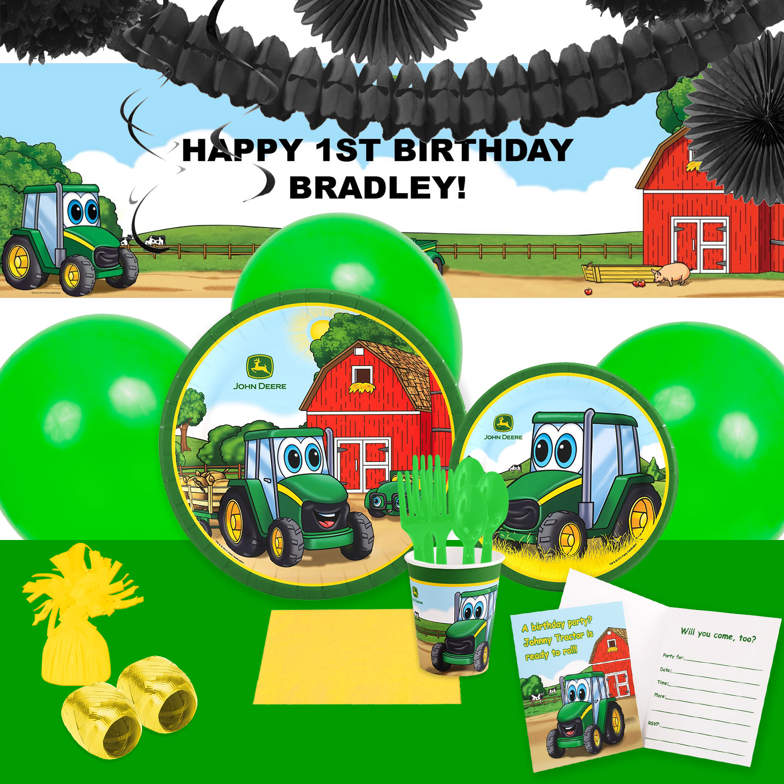 Default Image - John Deere Johnny Tractor Party in a Box For 16