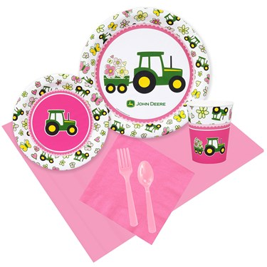 John Deere Pink 16 Guest Party Pack