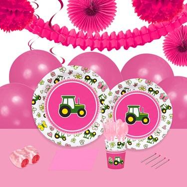 John Deere Pink 16 Guest Party Pack + Deco Kit