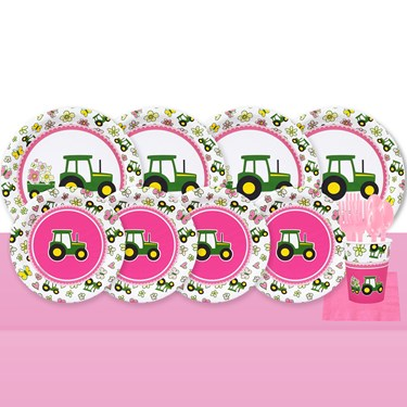 John Deere Pink 32 Guest Party Pack