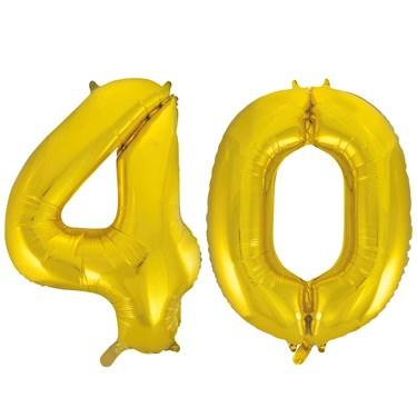 Jumbo Gold Foil Balloons-40