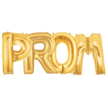 Jumbo Gold Foil Balloons-PROM