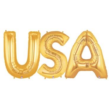 Jumbo Gold Foil Balloons-USA