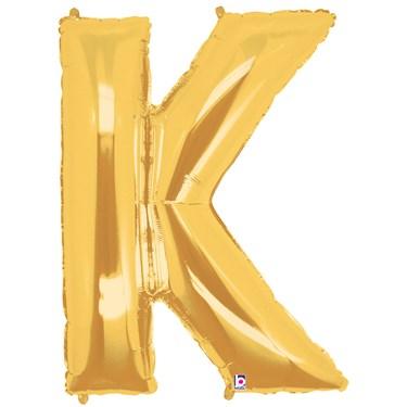 Jumbo Gold Foil Letter-K