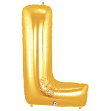 Jumbo Gold Foil Letter-L