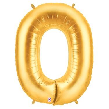 Jumbo Gold Foil Letter-O