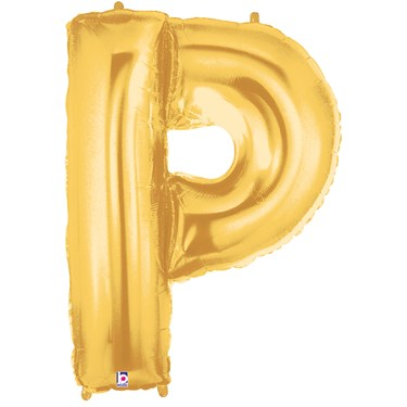 Jumbo Gold Foil Letter-P