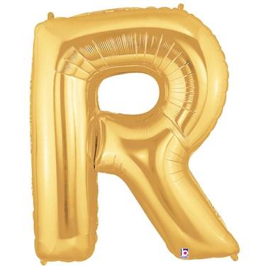 Jumbo Gold Foil Letter-R