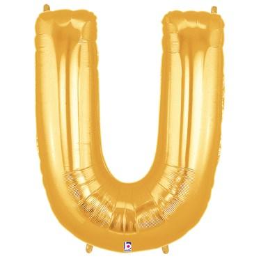 Jumbo Gold Foil Letter-U