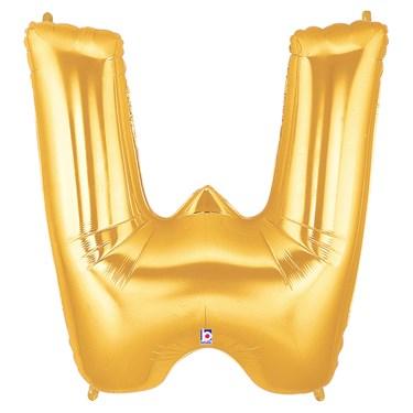 Jumbo Gold Foil Letter-W
