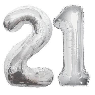 Jumbo Silver Foil Balloons-21