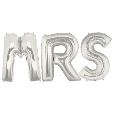 Jumbo Silver Foil Balloons-MRS