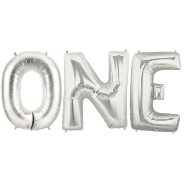 Jumbo Silver Foil Balloons-ONE