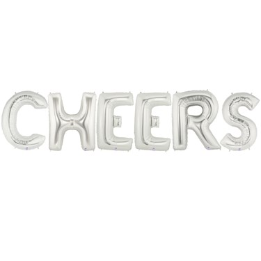 Jumbo Silver Foil-CHEERS
