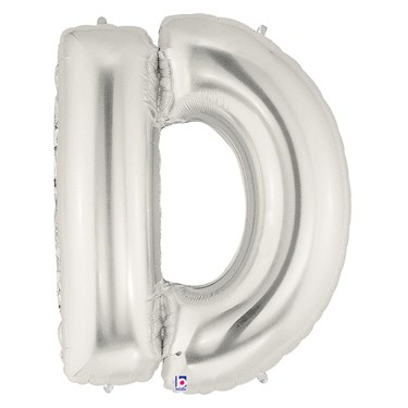 Jumbo Silver Foil Letter-D