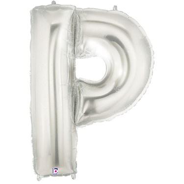 Jumbo Silver Foil Letter-P